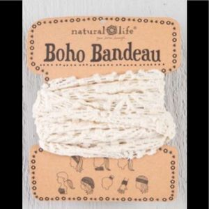 Natural Life Boho Headband Bandeau Cream